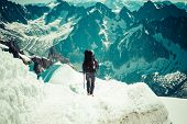 foto of climb up  - Mont Blanc Chamonix French Alps - JPG