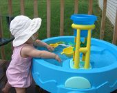 Toddler Playing In The Pool