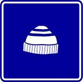 beanie knit cap sign