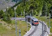 Alpine Train In Switzerland, Zermatt
