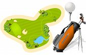 image of golf bag  - Putting Green - JPG