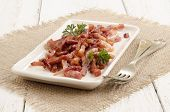 Grilled Bacon Bits On A Plate