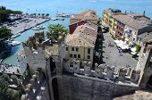 Aerial View Of Sirmione From The Scaliger Castle, Italy
