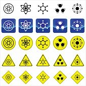 Sign graphics for atom and molecule structure