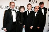 NEW YORK-JUNE 8: Costume designer Jenny Tiramani (2nd L) and Twelfth Night cast attend American Thea