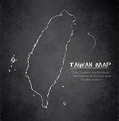 Taiwan map blackboard chalkboard vector