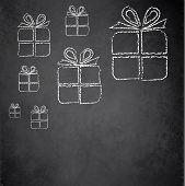 Christmas gift blackboard chalkboard raster