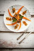Pumpkin Chard Gnocchi Moulded