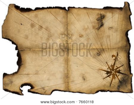 Old Blank Of Pirates Map