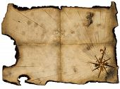 image of treasure map  - Old blank of pirates map for design - JPG