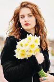 Tenn Girl With Daffodils