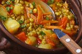 Vegetarian Soup With Mung Been And Vegetables