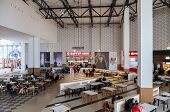 Samara, Russia - November 16, 2014: Food Court At A Shopping Center Ambar. The One Of Largest Shoppi