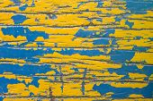 wood Paint over with yellow and blue