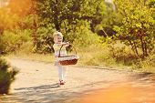Baby Girl With Basket