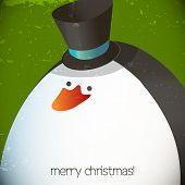 Christmas penguin illustration