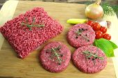 Raw Minced Beef Meat