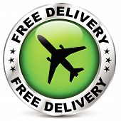 Free Airplane Delivery Icon