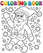 Coloring book Santa Claus in snow 2 - eps10 vector illustration.