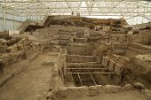 Catalhcatalhoyuk Konya (turkey). Built In 7500 B.c.