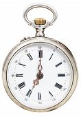 Seven O'clock On The Dial Of Retro Pocket Watch