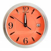One Minute To Twelve O'clock On Orange Dial