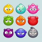 Cute cartoon jelly characters