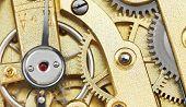 Brass Mechanical Movement Of Vintage Clock
