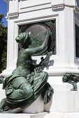 Bronze Statue Shows Young Woman In Nice