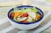pic of caesar salad  - Caesar salad with chicken and iceberg salad - JPG