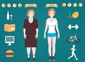 Infographic Of Fitness And Sport