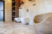 Beige And Bright Bathroom