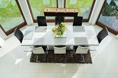 Long Table In Dinning Room