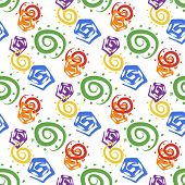 Abstract bright colorful seamless pattern.