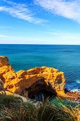 seascape,landscape and skyline of the great ocean road,australia