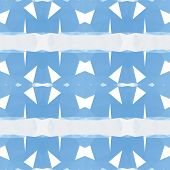 Blue abstract polygonal triangle mosaic pattern background