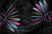Illustration On Black Background For Design
