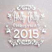 Christmas typographic label for Xmas and New Year holidays design. Calligraphic vector Decoration