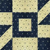 Navy with light colored cotton square for a quilt design