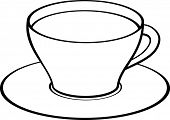 coffee or tea cup with saucer