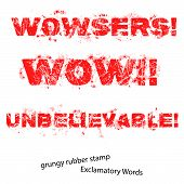 Grunge Rubber Stamp With Text Unbelievable Wow Wowsers ,vector Illustration