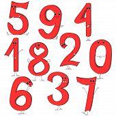 Illustration  Of Cartoon Numbers