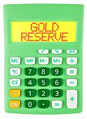 Calculator With Gold Reserve On Display