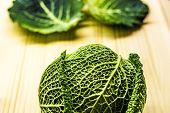 Savoy Cabbage In The Kitchen