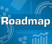 Roadmap Blue Business Background