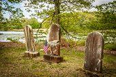 Three Old Tombstones