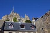 foto of mont saint michel  - mont saint michel view - JPG