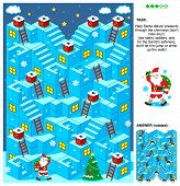 Santa deliver presents 3d Christmas or New Year maze game