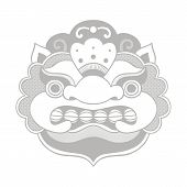 Traditional balinese mask. Barong.
