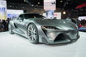 Toyota Ft-1 Concept Vehicle On Display